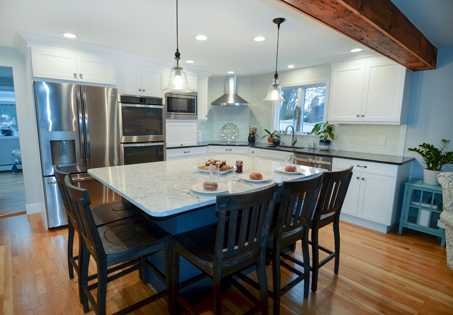 White and Grey Kitchen Remodel