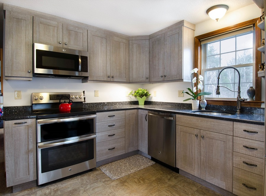 Driftwood Style Kitchen Remodel In Hudson NH