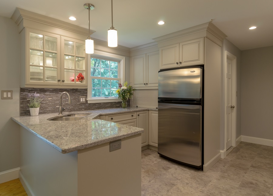 Off White Kitchen Remodel With Improved Storage Space In Acton Ma