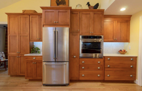 Additional storage space and countertop space meet to make the perfect kitchen!