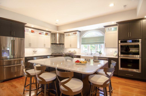 New two-toned kitchen in Carlisle, MA